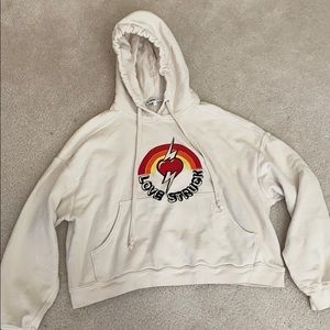 re/done cropped hoodie